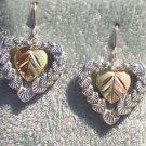 Black Hills Gold Earrings Hearts Encased Heart Silver