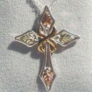 Black Hills Gold Necklace 10K Infinity 8 Silver Cross