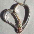 Black Hills Gold Necklace JOURNEY Silver 10K Hearts