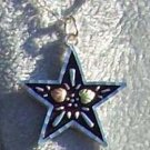 Black Hills Gold Necklace Antiqued Star Silver