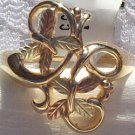 Black Hills Gold  Ring Ladies 8 Leaves Entwined Vines