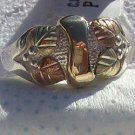 Black Hills Gold Ring Ladies 4 Leaf 10K Ribbon