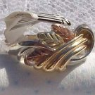 Black Hills Gold Ring Ladies 3 Leaf 10K Vines Silver