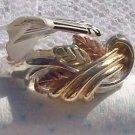 Black Hills Gold Ring Ladies 3 Leaf 10K Vines Silver
