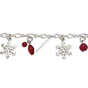 Berries And Snowflake Silver Link Bracelet Landstroms Black Hills Gold