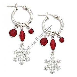 Silver Snowflake & Berries Earrings Landstroms Black Hills Gold