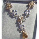 Black Hills Gold Necklace Citrine Silver Festoon