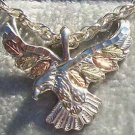 Black Hills Gold Necklace Open Wings Eagle Silver