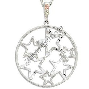 Black Hills Gold Circle Of Stars Pendant Necklace
