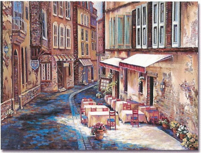 "Limited Edition giclee Ginger Cook's ""Afternoon in Albi"""
