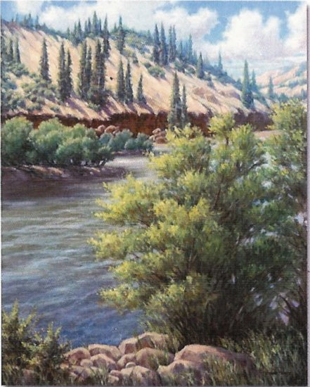 "Limited Edition giclee Vickie Fears ""Along the Rio Grande"""