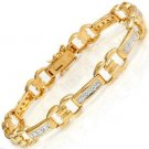 Genuine Diamond Bracelet in 18K Gold & 925 Sterling Silver