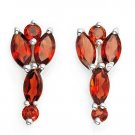 2.55ctw Genuine Garnet Earrings