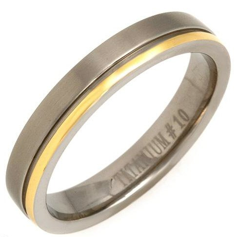 Titanium Gent's Comfort fit Ring