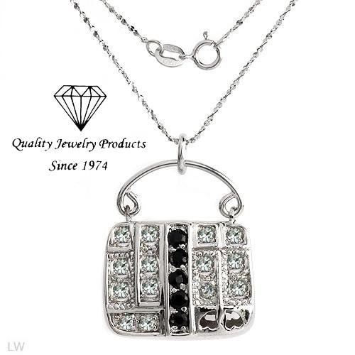 MADE IN ITALY! 1.71ctw Handbag Necklace with Genuine Sapphires & Topazes