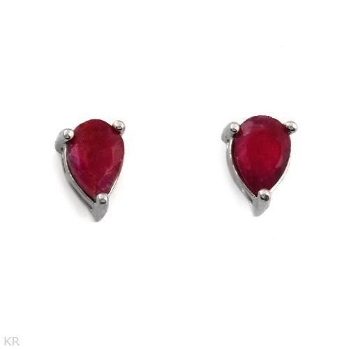 Elegant Earrings with 1.04ctw Genuine Rubies