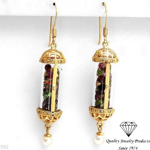 Dazzling Earrings With Precious Stones