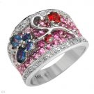 Beautiful Ring With 2.74ctw Diamonds and Genuine Sapphires