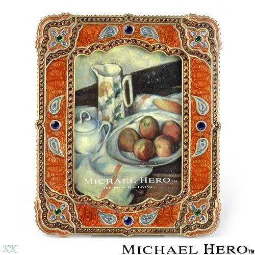 """MICHAEL HERO"" Terracotta Exotic Journeys Frame"