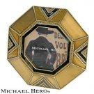 """MICHAEL HERO"" Brown and Black Art Deco Frame"