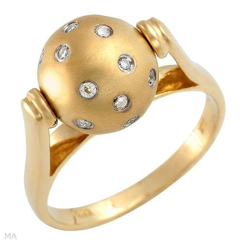 Vibrant Ring With Genuine Diamonds