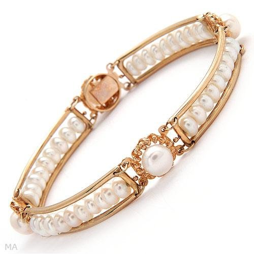 Gorgeous Bracelet w/Genuine 4.5x6.5mm Freshwater Pearls