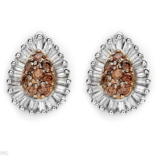 Gorgeous Earrings With Genuine Clean Diamonds