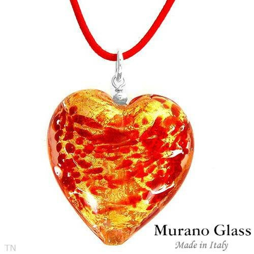 MURANO GLASS MADE IN ITALY! Necklace in Three Tone