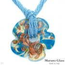 MURANO GLASS MADE IN ITALY! Necklace in 24K Three Tone