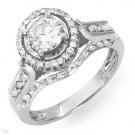 Irresistible Certified Solitaire Plus Ring With 1.36ctw Genuine Diamonds - Certified