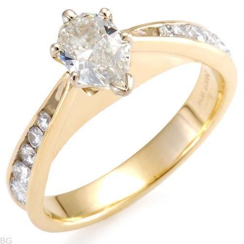Superb Solitaire Plus Ring w/1.20ctw Genuine Super Clean Diamonds - Certified