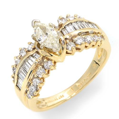 Certified Stunning Solitaire Plus Ring With 1.25ctw Genuine Clean Diamonds - Certified