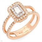 Dazzling Ring With 0.57ctw Genuine Super Clean Diamonds - Certified
