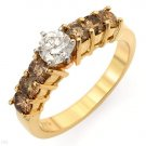 Irresistible Ring With 1.40ctw Genuine Clean Diamonds - Certified