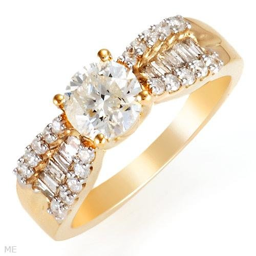 Dazzling Solitaire Plus Ring With 1.35ctw Genuine Clean Diamonds - Certified