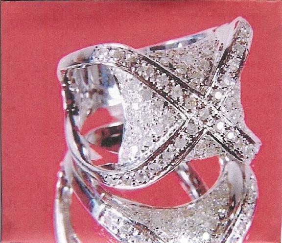 1.55ct Diamond Right-Hand Ring 14k White Gold