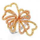 Irresistible Ring w/1.35ctw Diamonds in 14K Three Tone Gold