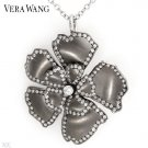 VERA WANG Elegant Necklace/Brooch w/0.90ctw Super Clean Diamonds in 18K WG & Titanium