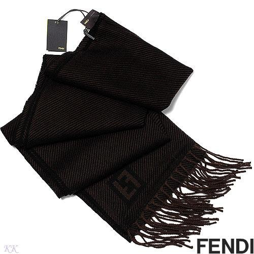 100% Genuine and Authentic FENDI Wool Scarf -Blue/Black Unisex! - Retails for $300.00