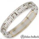 New DOLAN BULLOCK Gents Bracelet 18K Yellow Gold/StSl