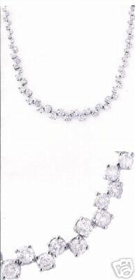 10.0ctw Diamond Necklace 14K White Gold
