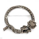 New Marcasite Brooch  in 925 Sterling Silver