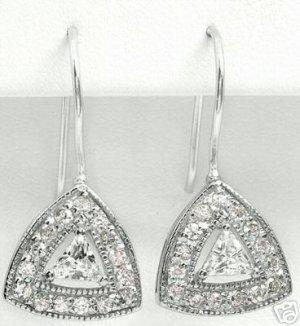 New 1.88ctw Cubic Zirconia Earrings