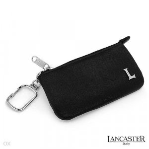 New LANCASTER Leather Key Holder/Coin Purse w/Diamonds