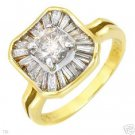 Solitaire Plus Ring w/1.60ctw Clean Diamonds-CERTIFIED