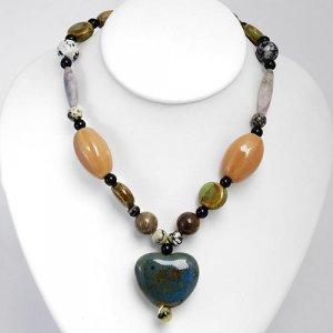 Elegant  Necklace w/Agates & Turquoise