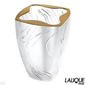 Authentic LALIQUE Vase Yasna Or Collection