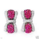 New Earrings w/2.93ctw Diamonds & Rubies
