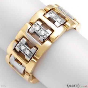 Salavetti!! Diamond Ring in 18K Two Tone Gold