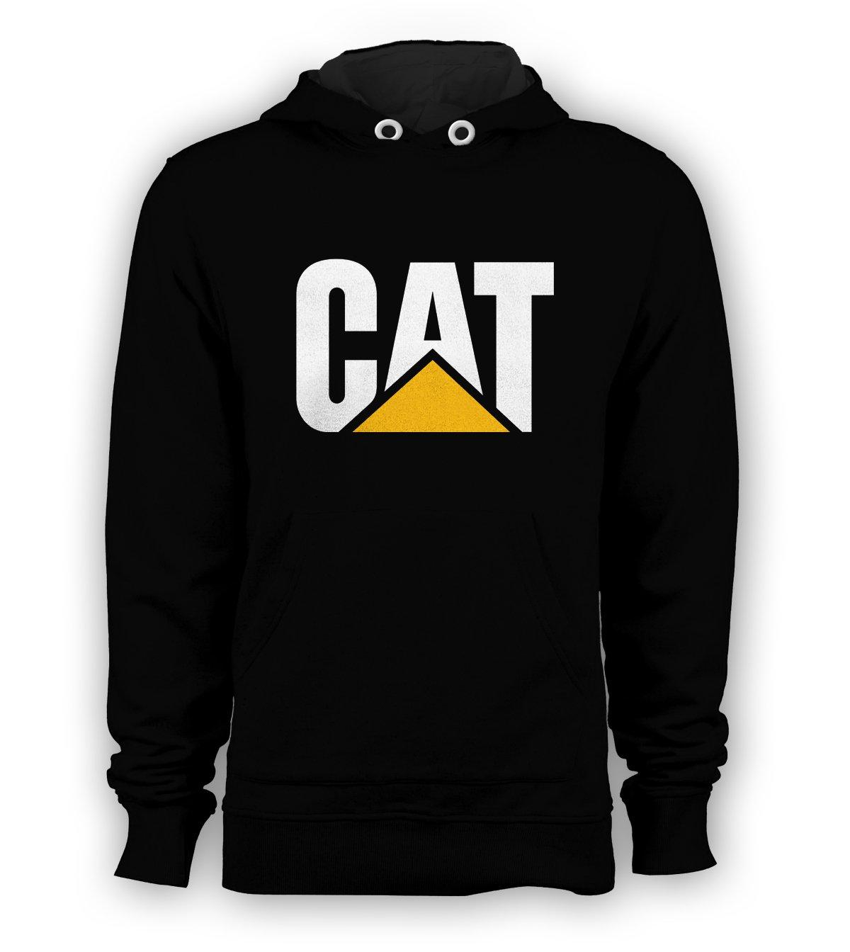 CAT CAterpillar Pullover Hoodie Men Diesel Tractor Boot Sweatshirts Size S to 3XL New Black